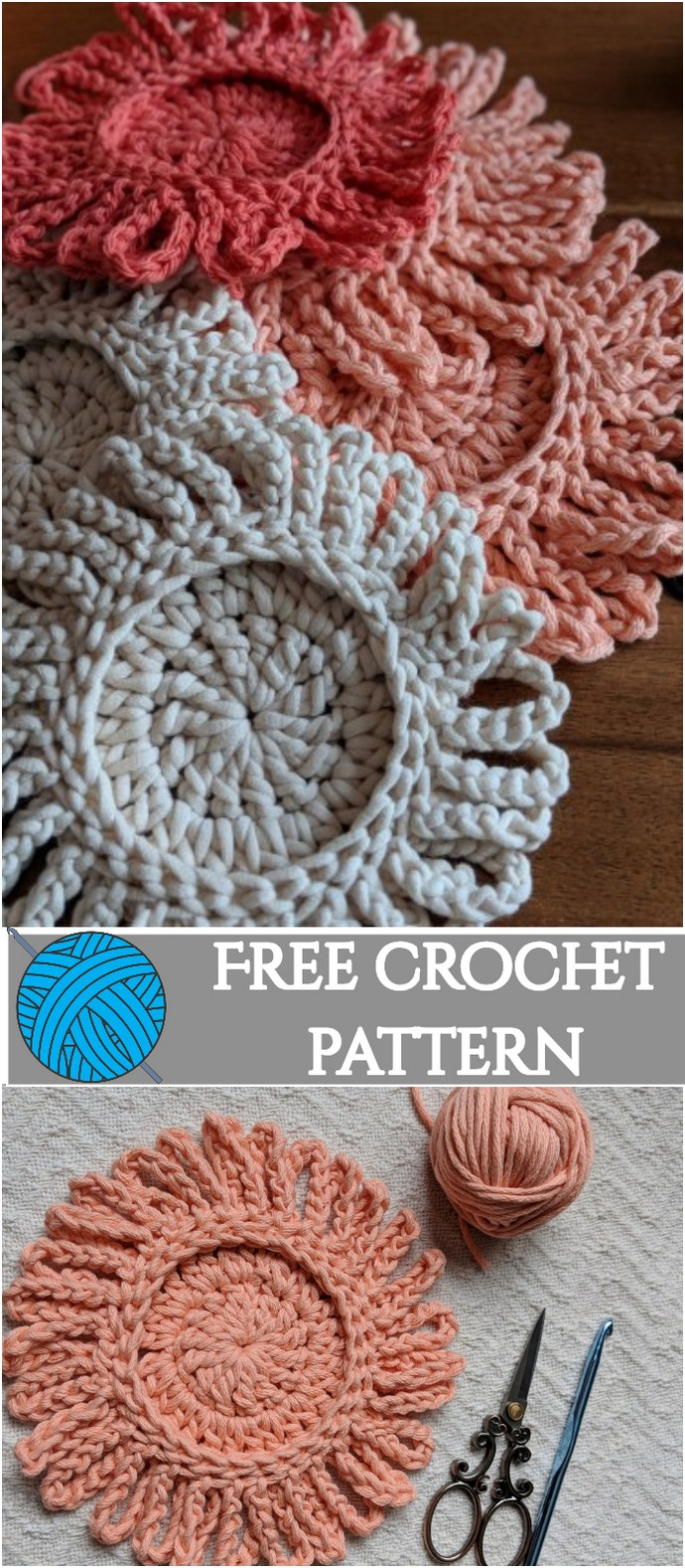 Crochet Coasters Free Pattern Diy Daisy Coasters