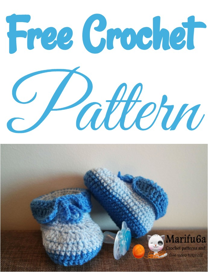 Easy Crochet Baby Booties