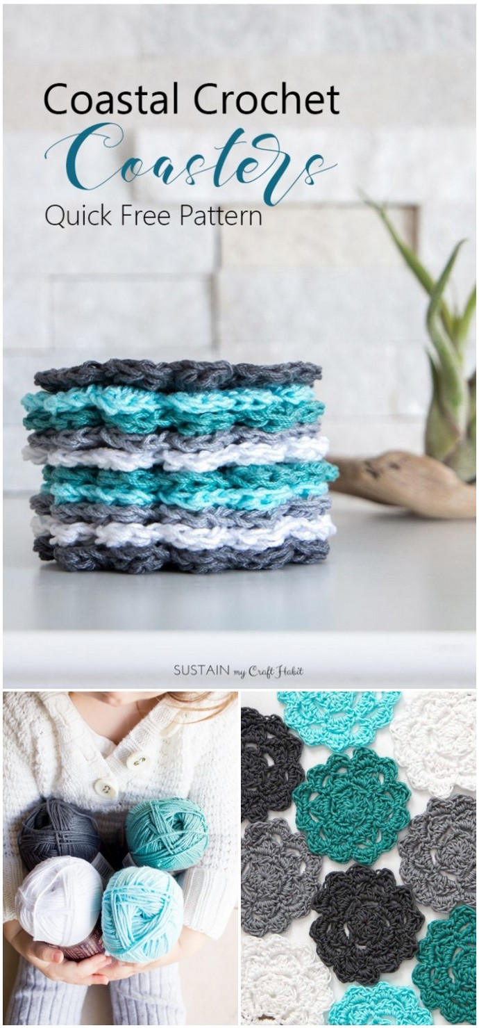 Free Crochet Coaster Pattern