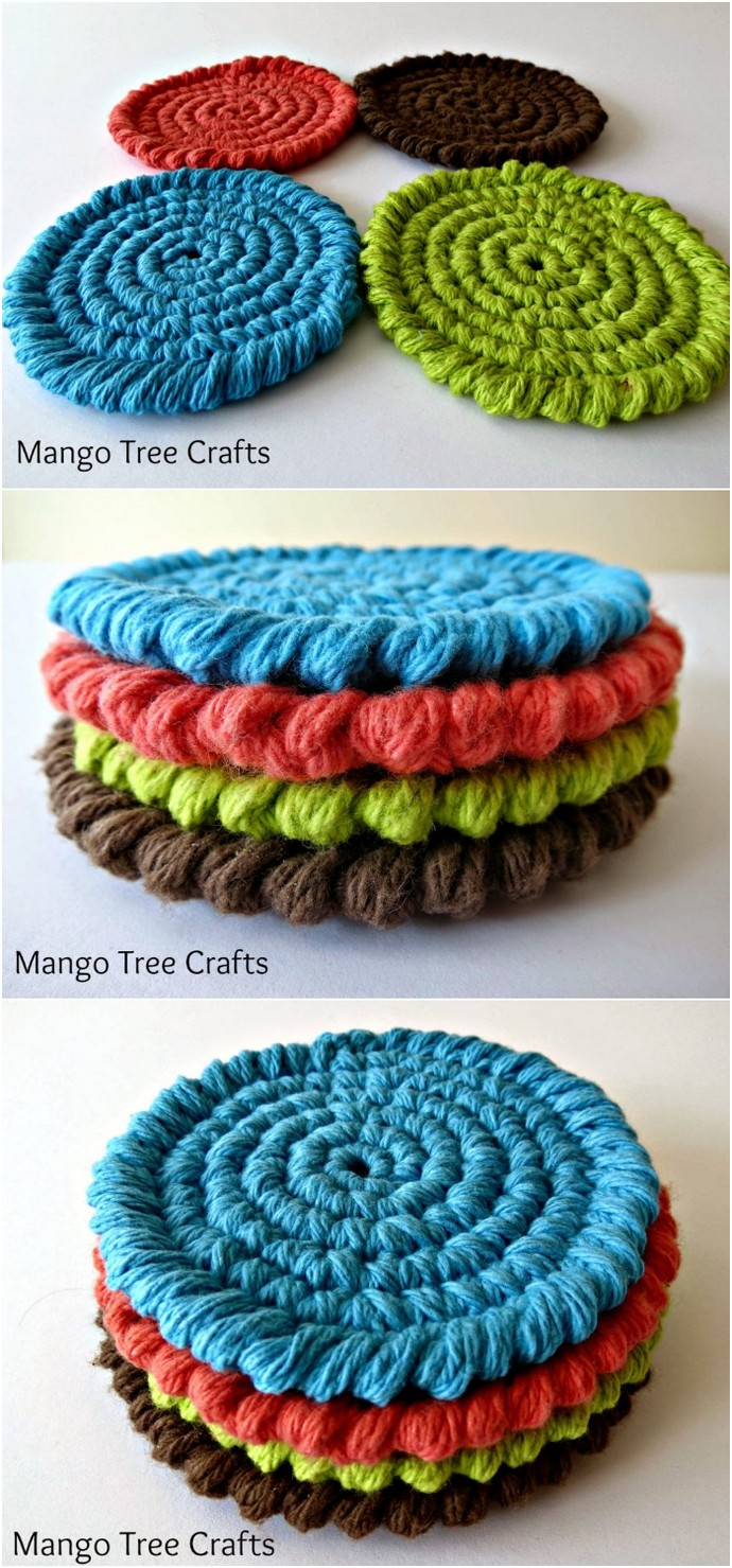 Free Crochet Coasters Pattern