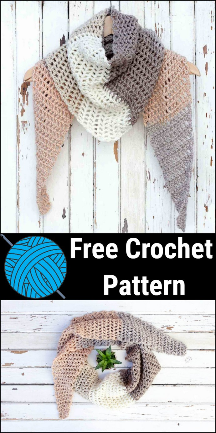Free Crochet Desert Winds Scarf