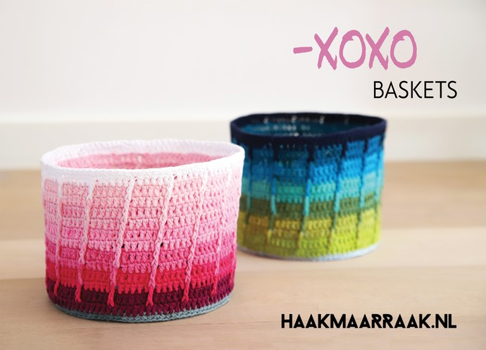 Free Crochet Pattern: Xoxo Baskets