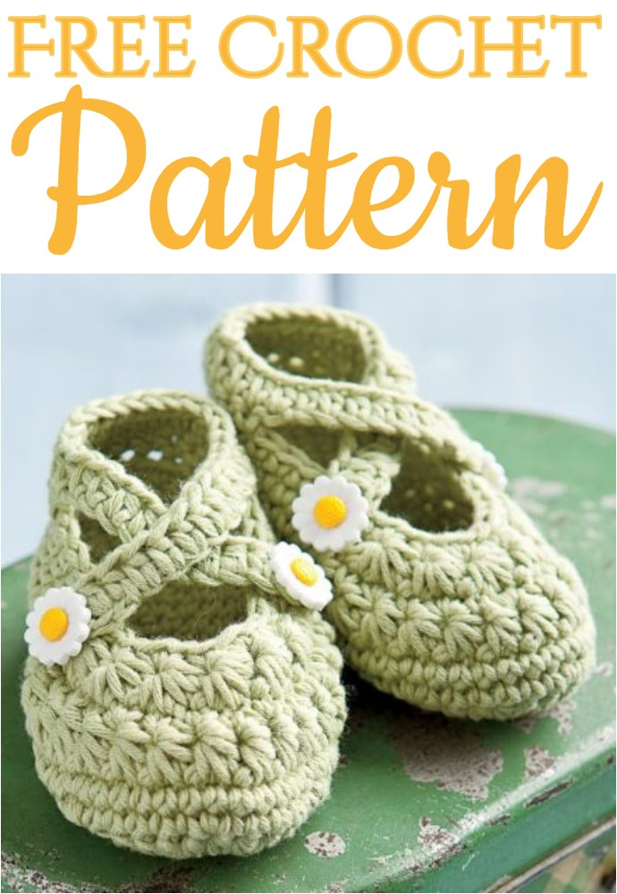 Free Crochet Two Strap Baby Booties A Star Is Born