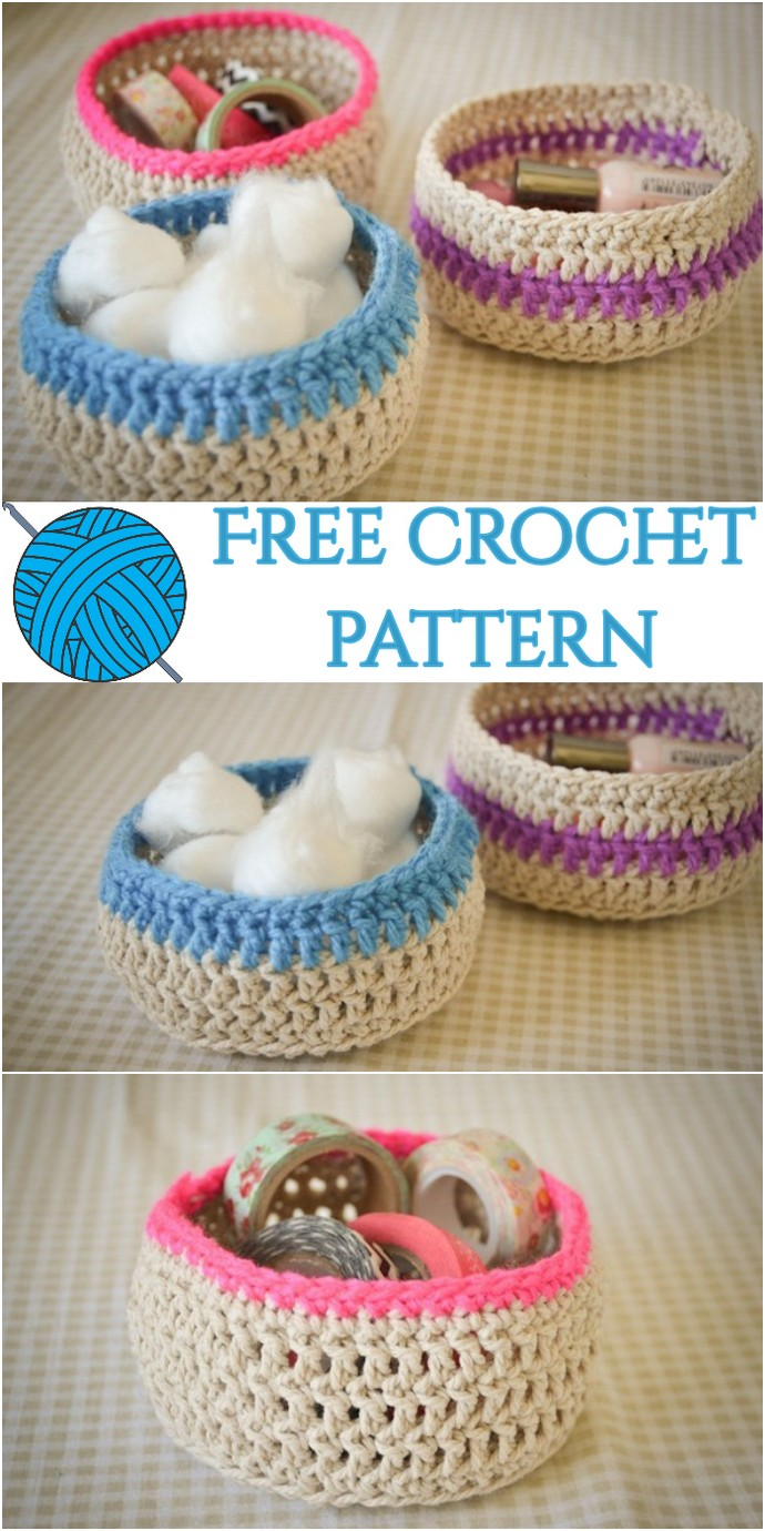 Loving Free Crochet Baskets