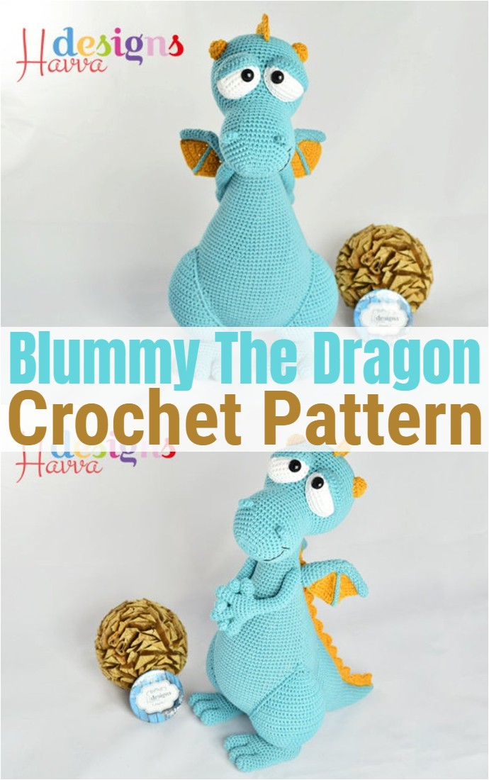 Blummy The Dragon Amigurumi