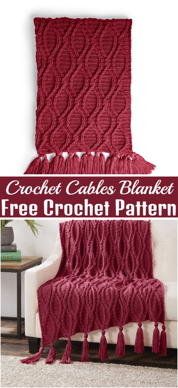 Crochet Cables Blanket