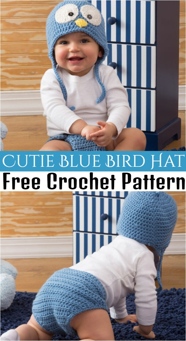 Cutie Blue Bird Hat