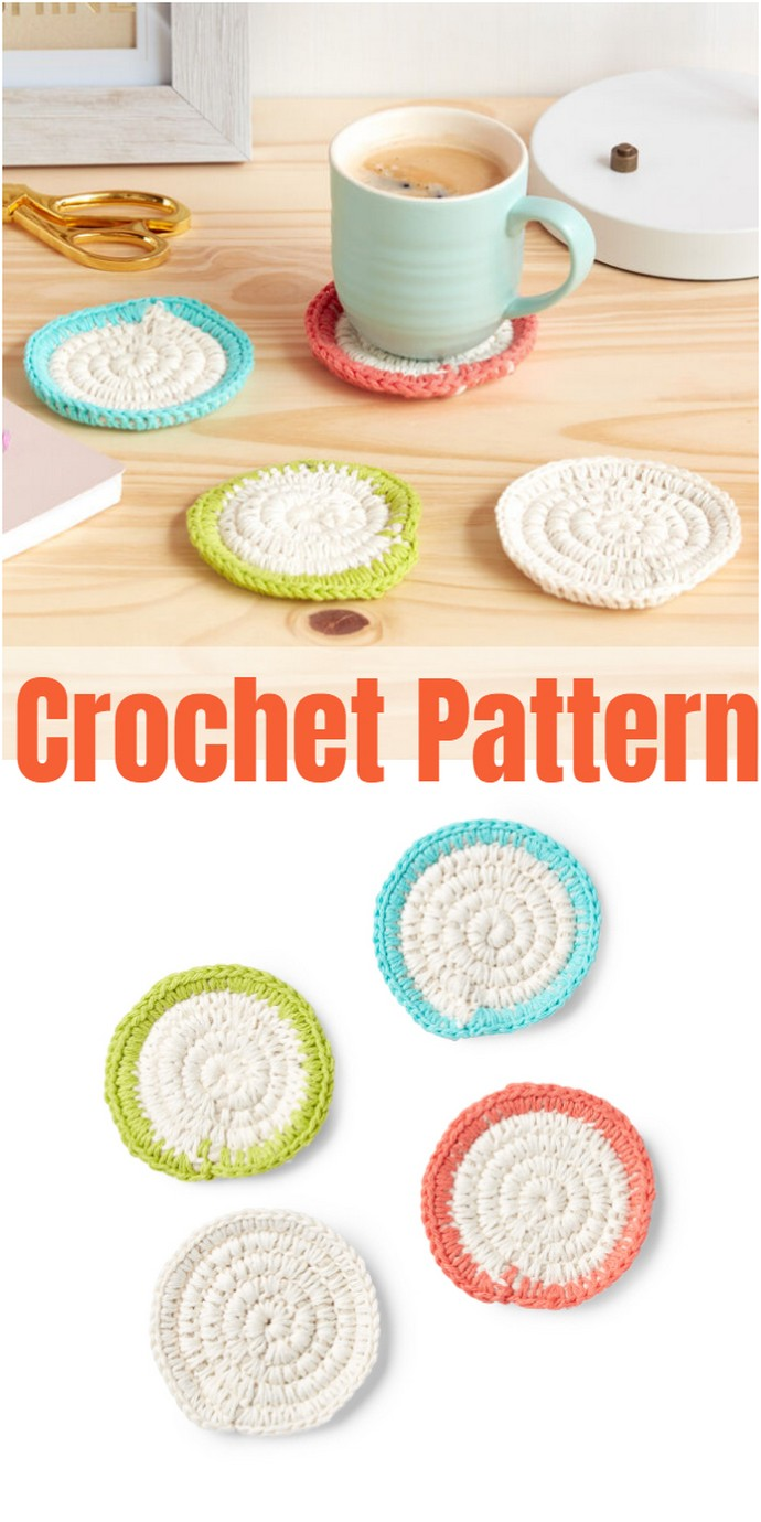 Easy Crochet Coasters Pattern
