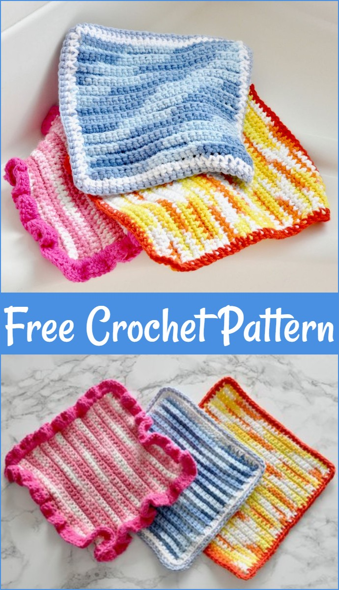 Easy Free Crochet Dishcloth