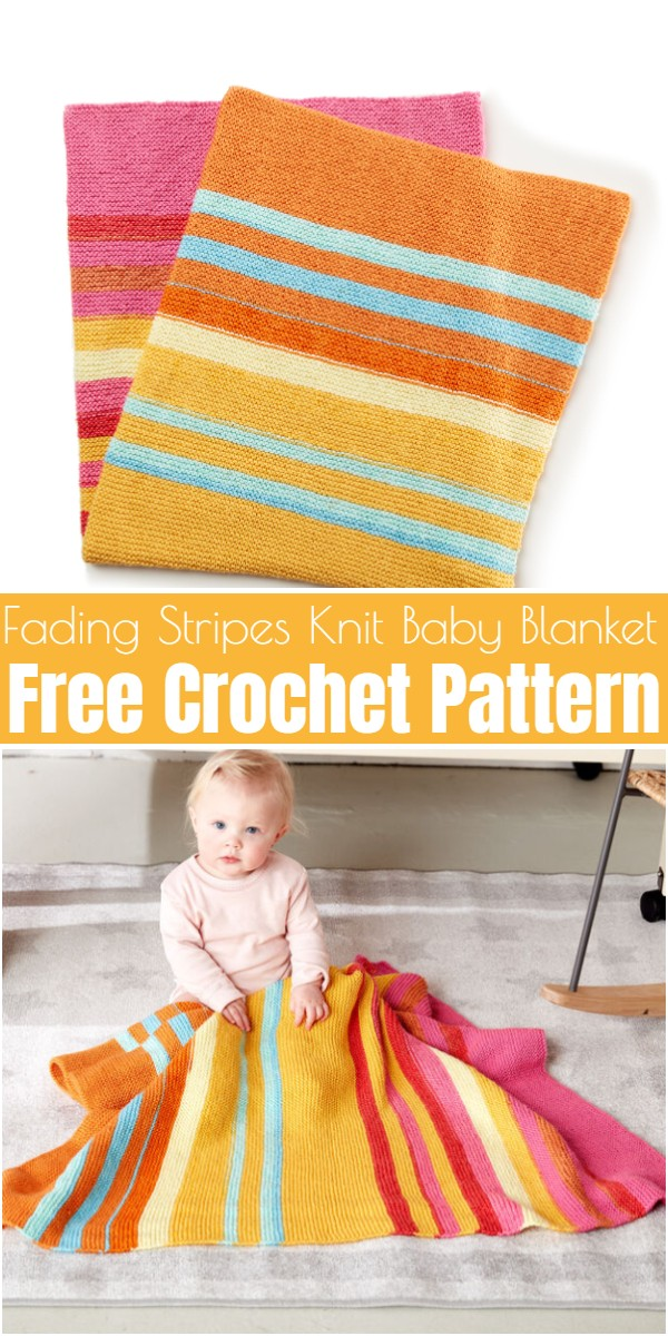 Fading Stripes Knit Baby Blanket