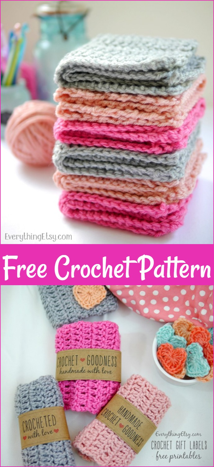 Free Crochet Washcloth Pattern