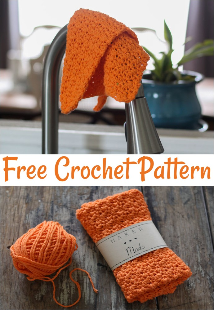 Rustic Dish Cloth Free Crochet Pattern