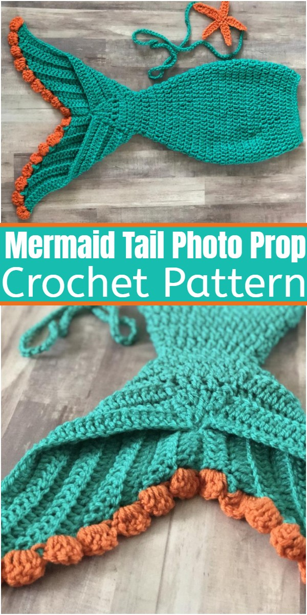 Crochet Mermaid Tail Photo Prop