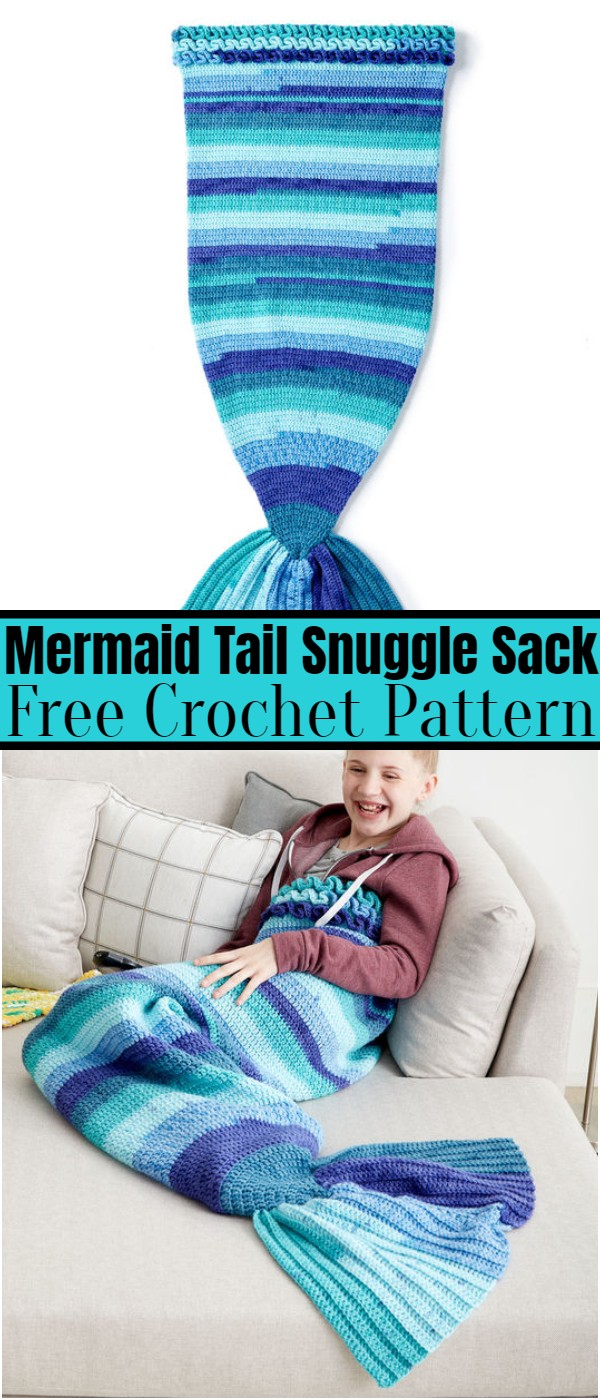 Crochet Mermaid Tail Snuggle Sack