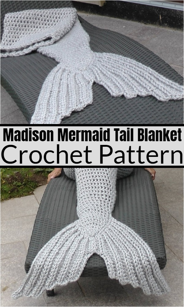 Madison Mermaid Tail Blanket