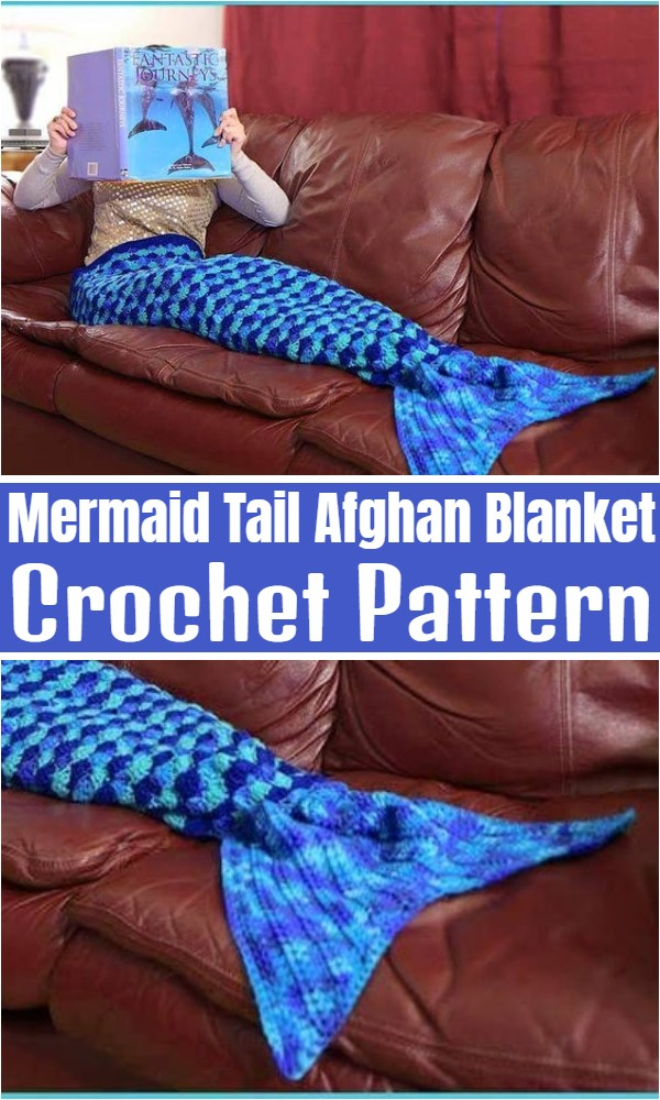 Mermaid Tail Afghan Blanket
