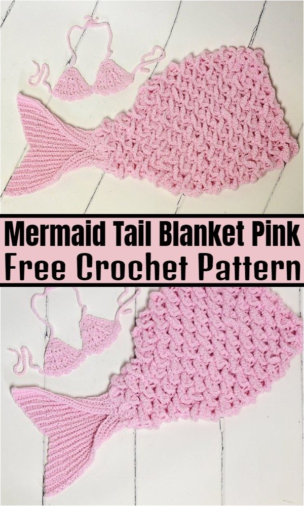 Mermaid Tail Blanket Pink