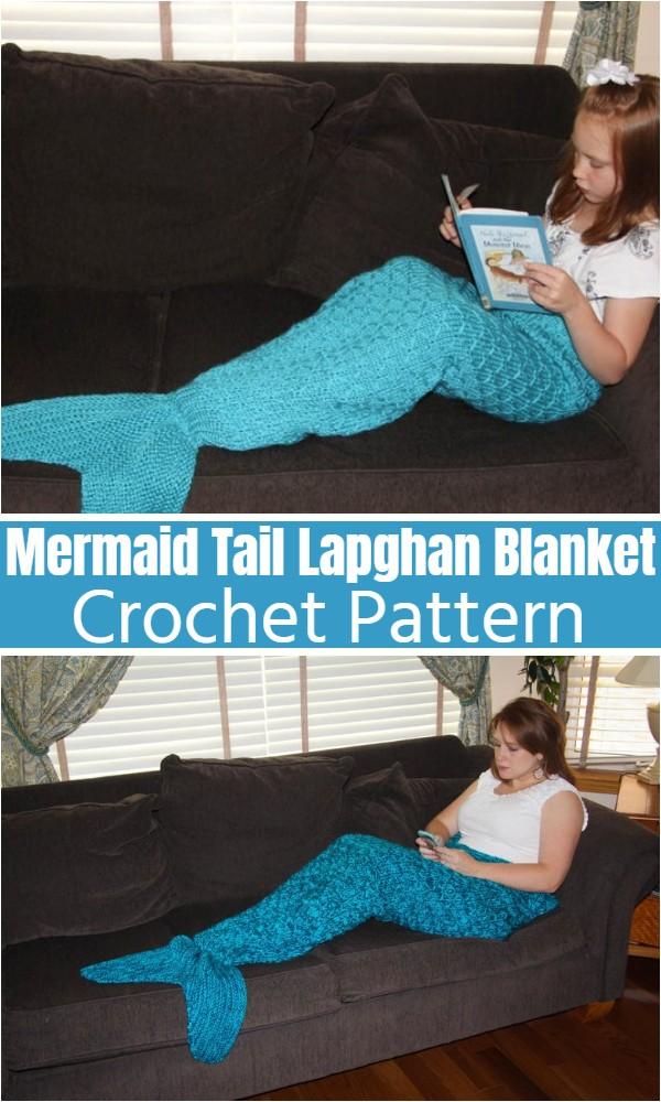 Mermaid Tail Lapghan Blanket