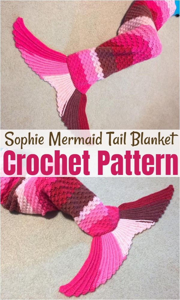 Sophie Mermaid Tail Blanket Pattern