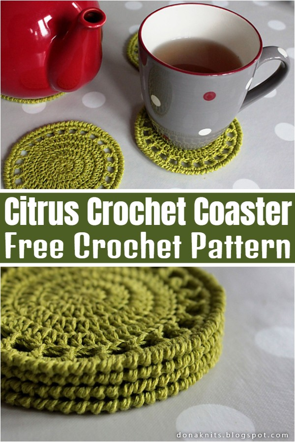 Citrus Crochet Coaster Pattern