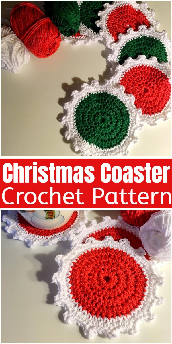 Crochet Christmas Coaster Pattern