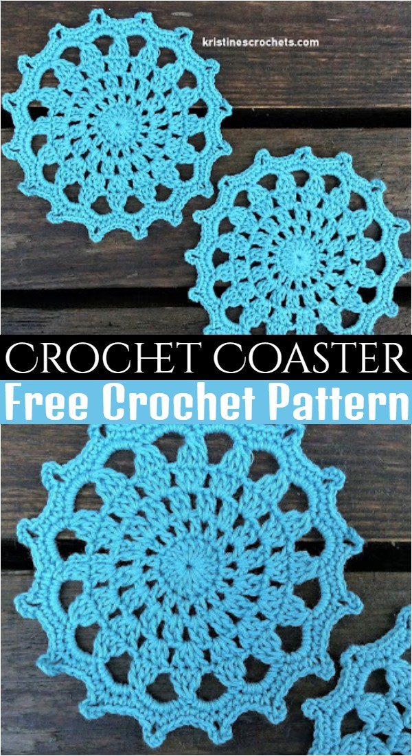 Crochet Coaster Easy Pattern
