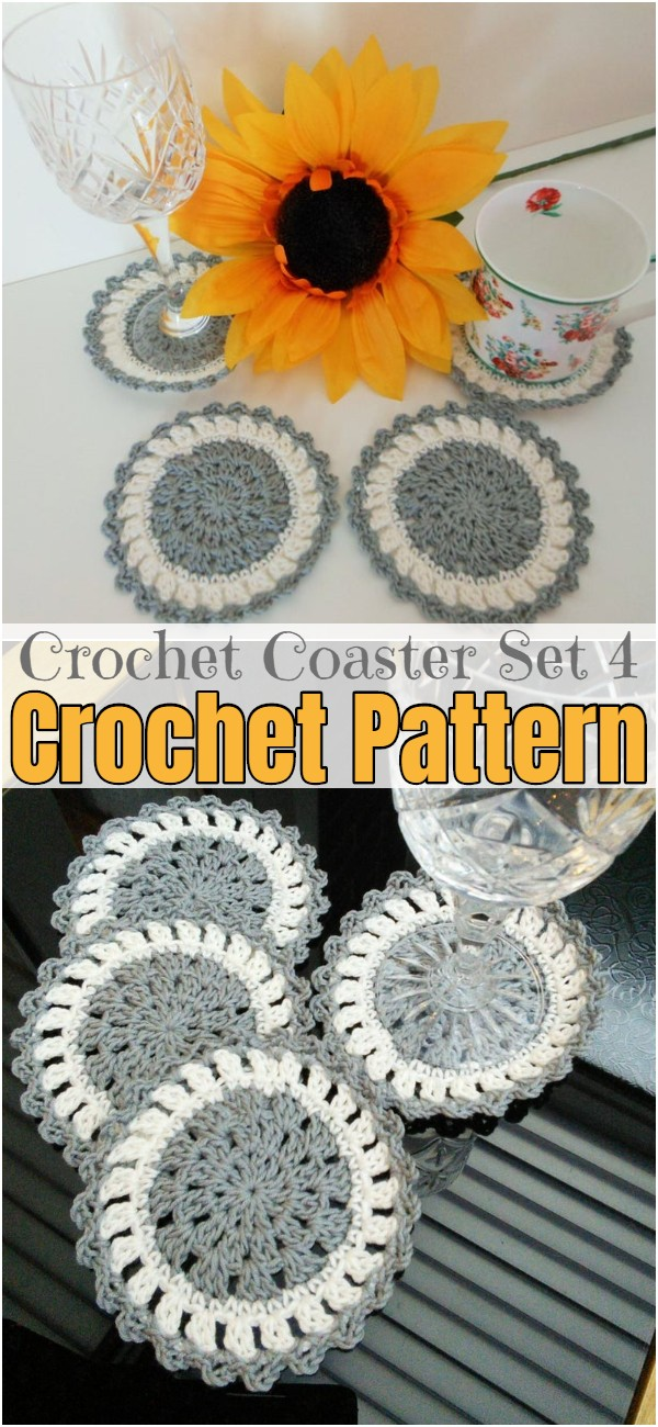 Crochet Coaster Set 4