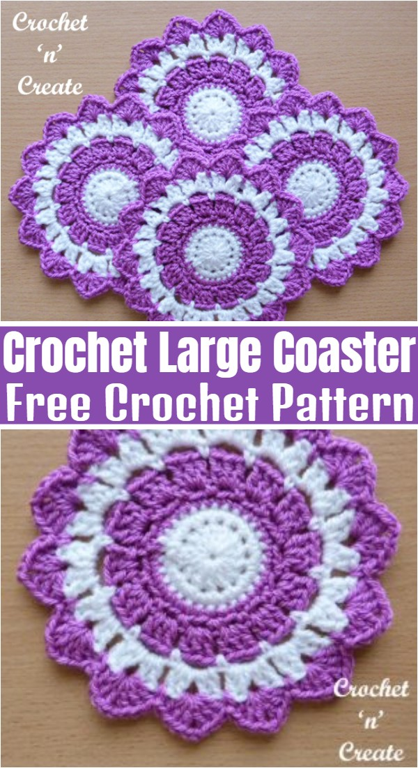 Crochet Large Coaster
