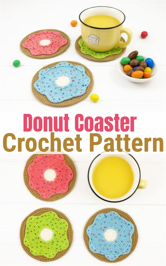 Crochet Pattern Donut Coaster Pattern
