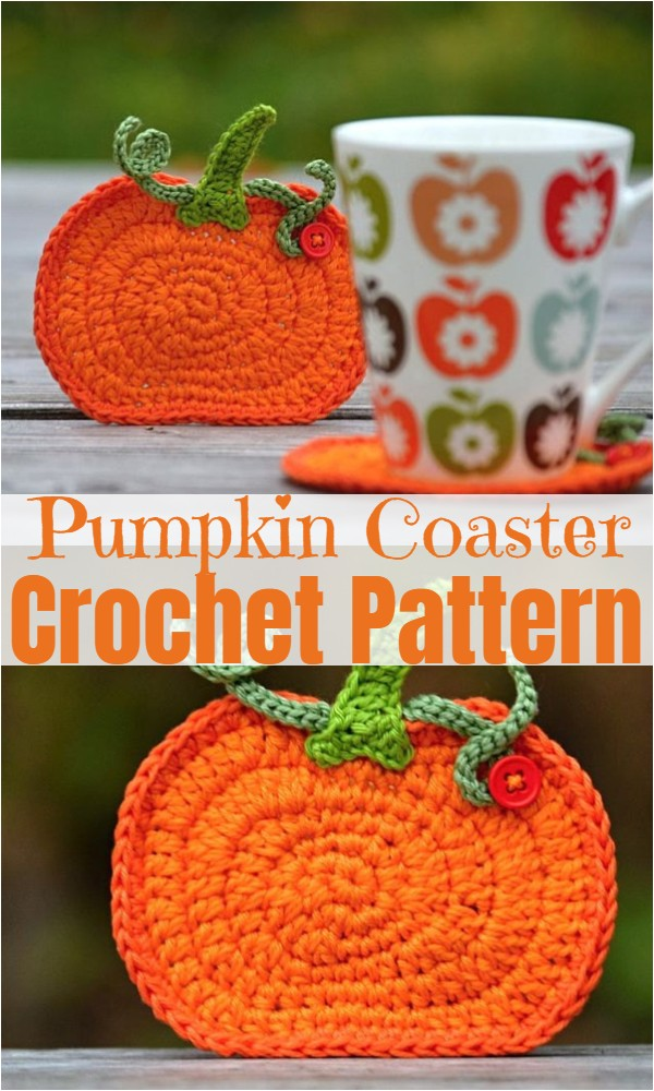 Crochet Pumpkin Coaster