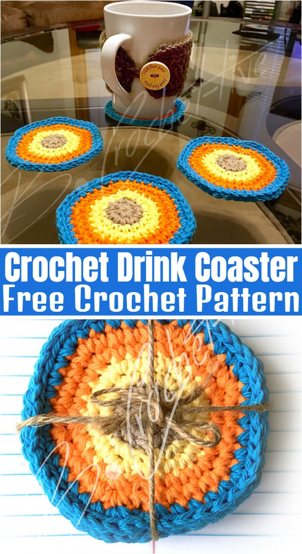Drink Coaster Free Crochet Pattern