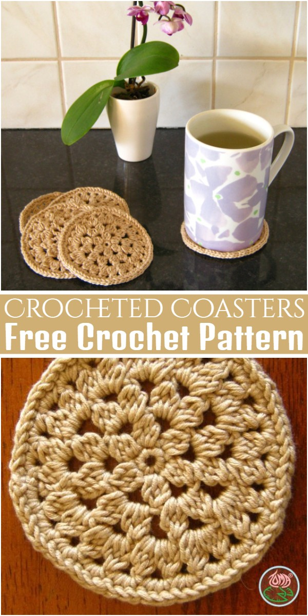 Free Pattern Crocheted Coasters