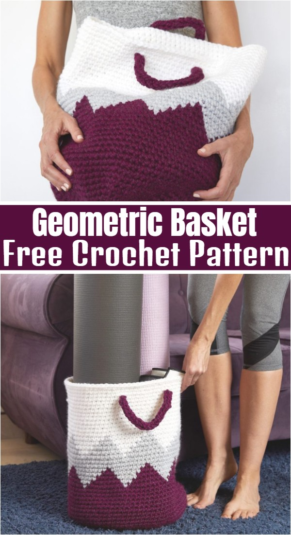 Geometric Basket Crochet Pattern
