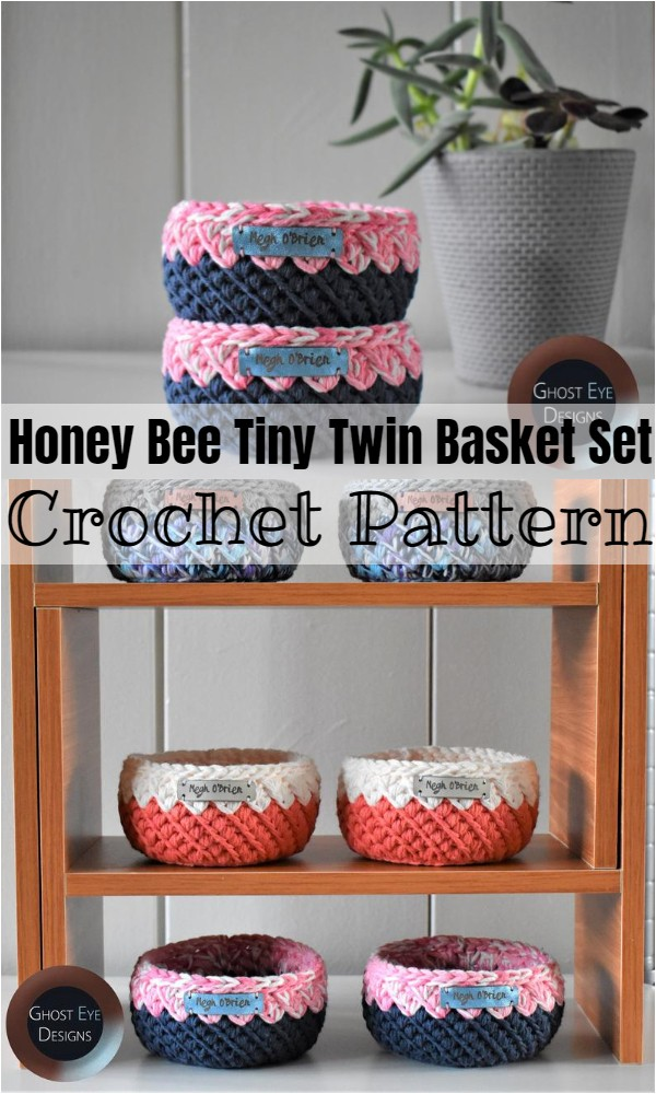 Honey Bee Tiny Twin Basket Set