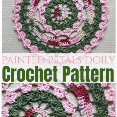 Painted Petals Doily Crochet Pattern