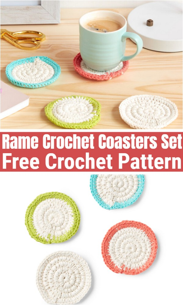 Rame Crochet Coasters Set