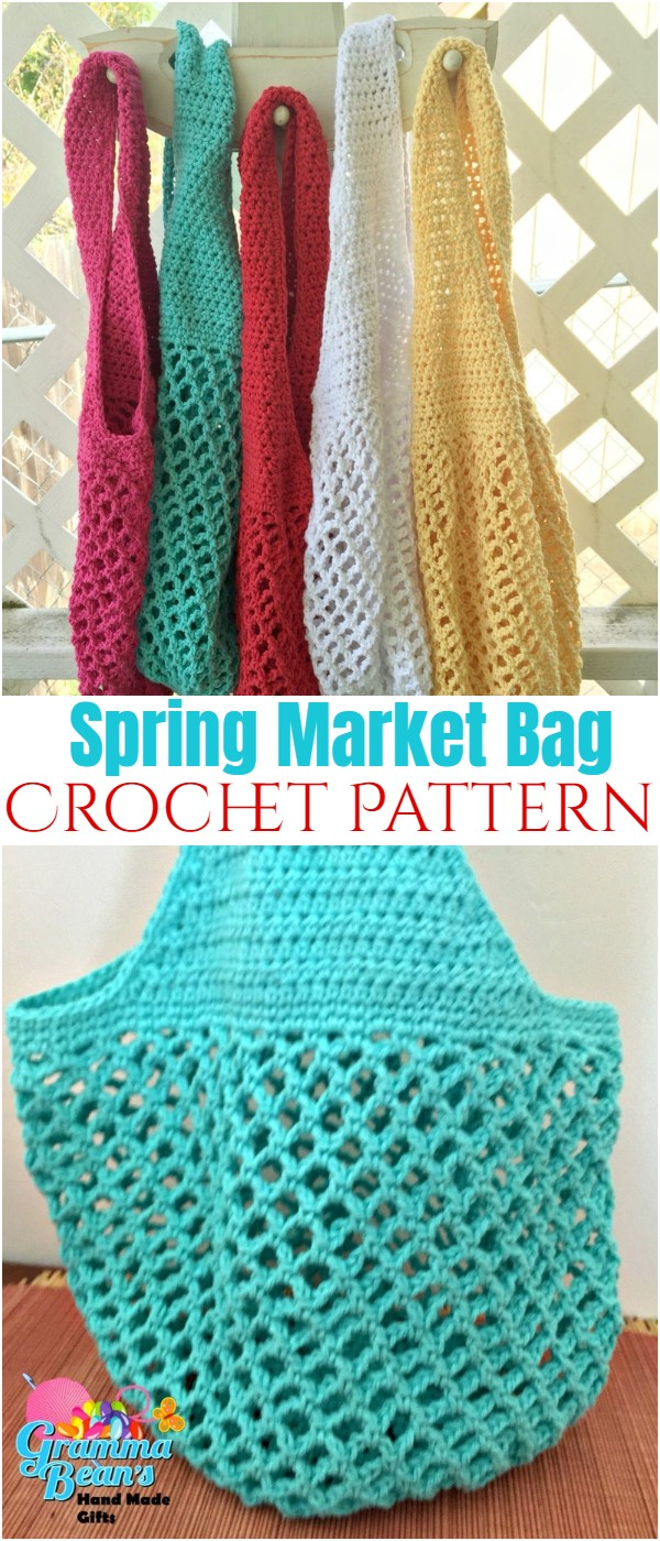Spring Market Bag Crochet Pattern