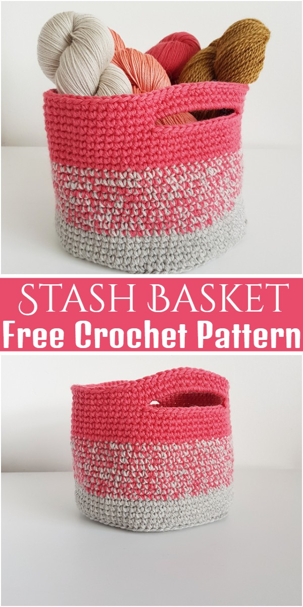 Stash Basket Free Crochet Pattern