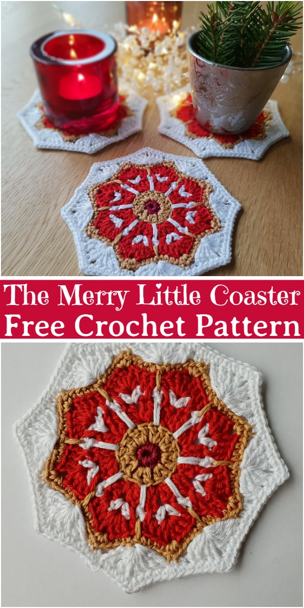 The Merry Little Coaster Free Crochet Pattern