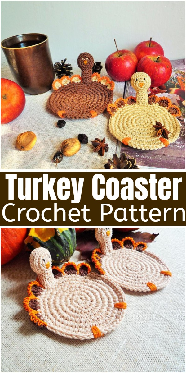 Turkey Coaster Crochet Pattern