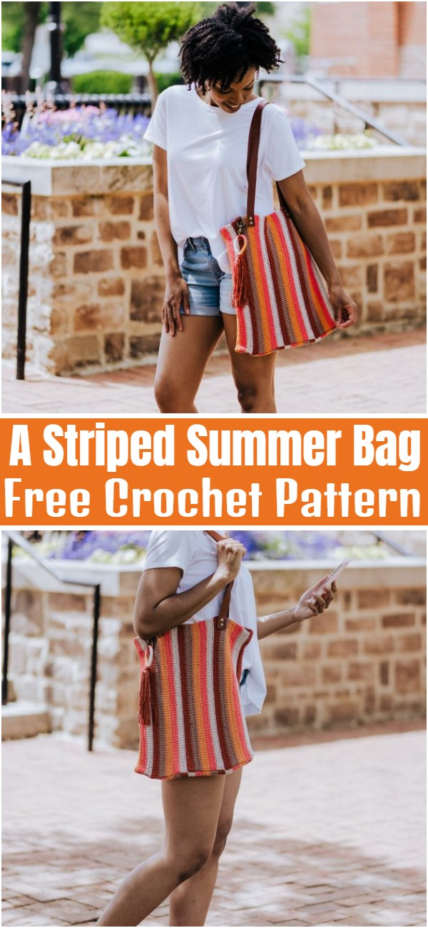 A Striped Summer Bag Free Crochet Pattern