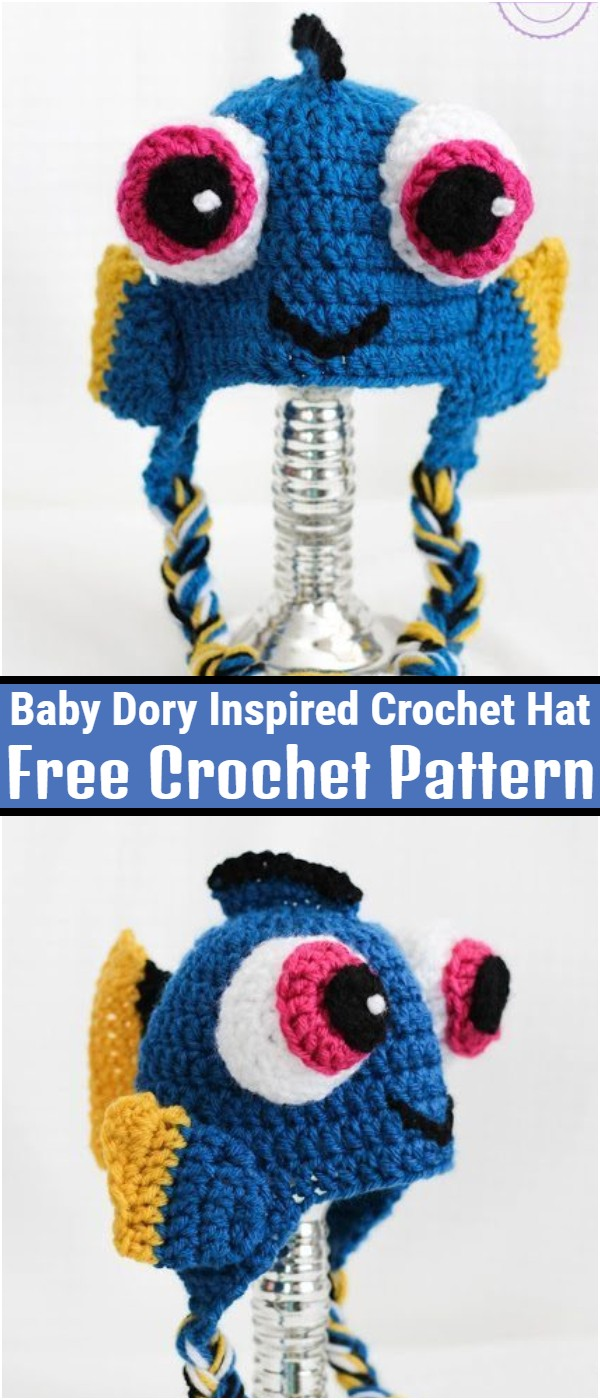 Baby Dory Inspired Crochet Hat