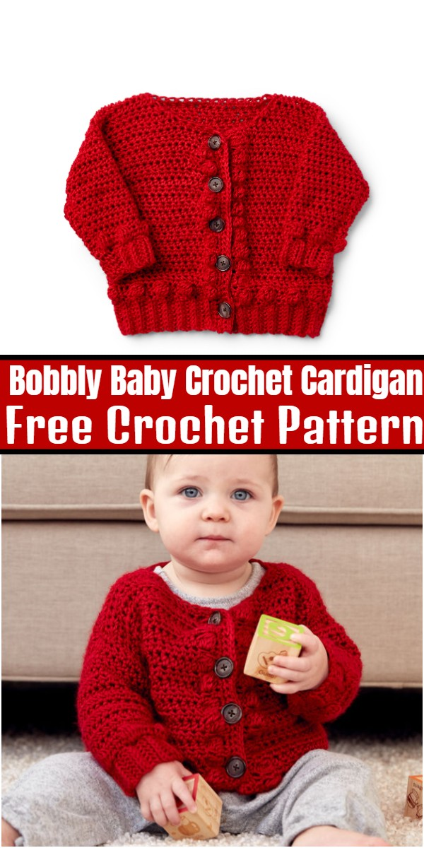 Bobbly Baby Crochet Cardigan