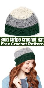 Bold Stripe Crochet Hat