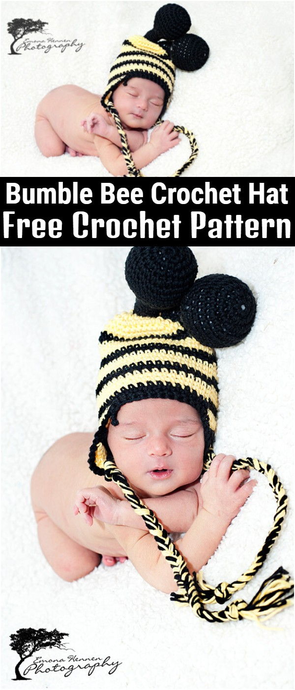 Bumble Bee Crochet Hat Free Pattern