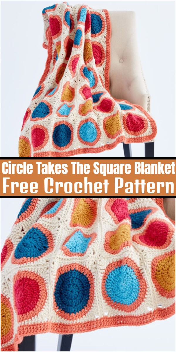 Circle Takes The Square Crochet Blanket