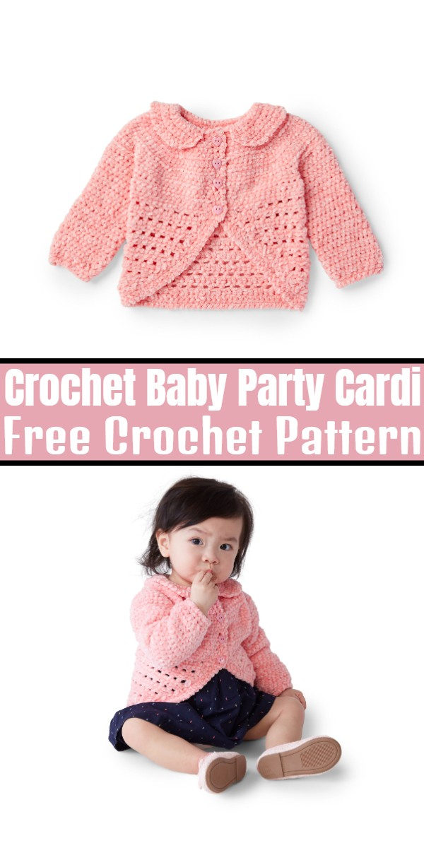 Crochet Baby Party Cardi