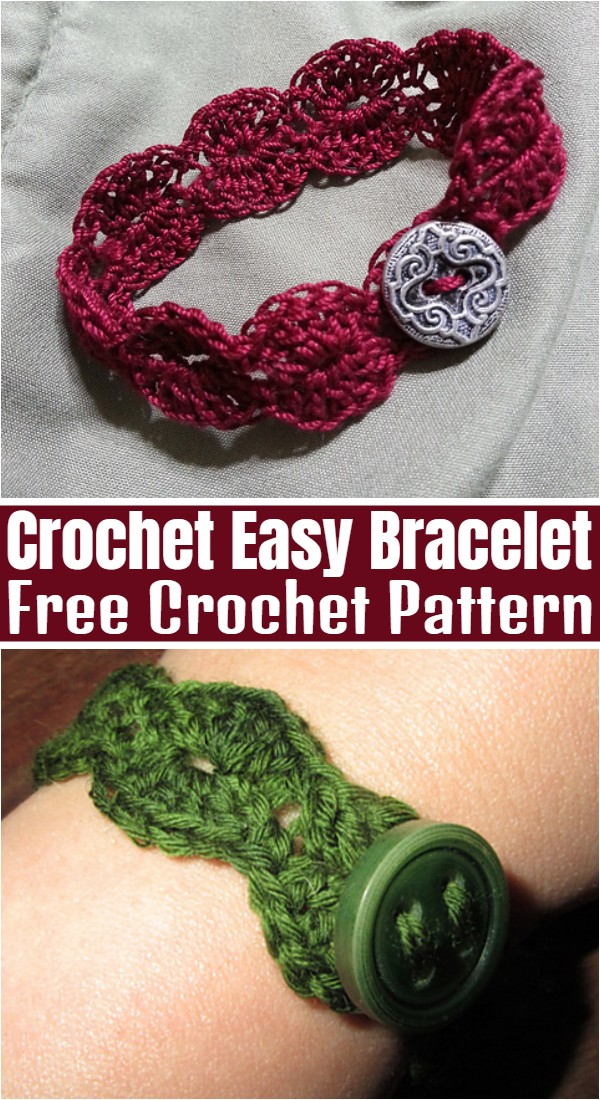 Crochet Easy Bracelet Pattern