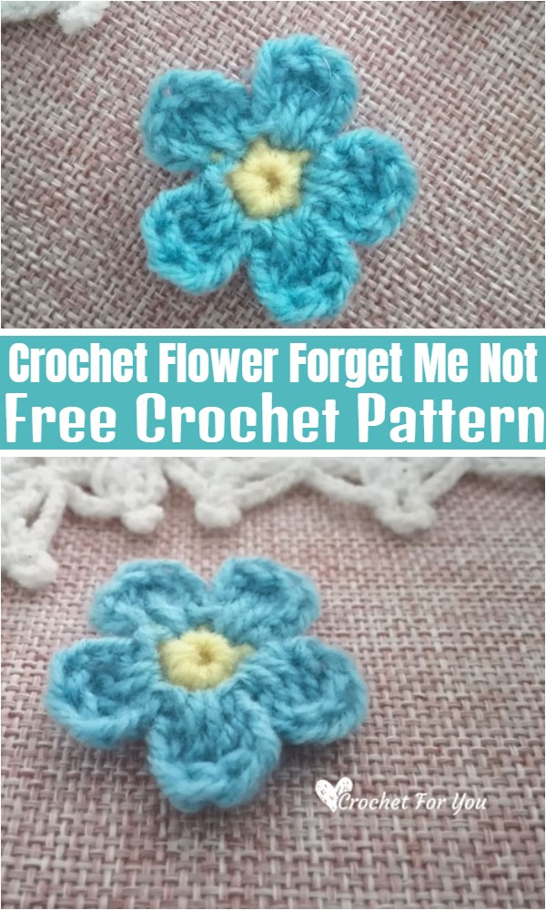 Crochet Flower Forget Me Not