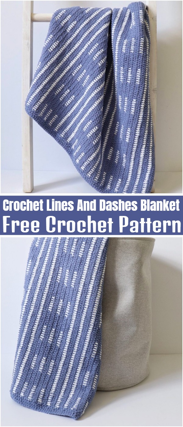 Crochet Lines And Dashes Blanket